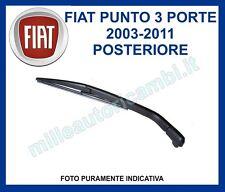BRACCIO E SPAZZOLA TERGI LUNOTTO POSTERIORE FIAT PUNTO DAL 2003 AL 2011 3 PORTE