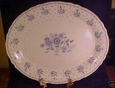 "Rare Grindley Tewkesbury 16"" Platter Blue on Cream"