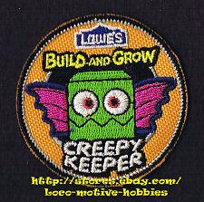LMH PATCH Badge  2012 CREEPY KEEPER Bat  LOWES Build Grow Kid's Clinic Halloween
