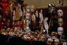 575057 Mask Stall Venice Carnival Italy A4 Photo Print