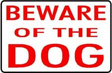 2 X QTY 210 X 140 MM BEWARE OF THE DOG VINYL STICKER DECAL PRINTED