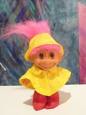 Russ Rainy Day with Rain Boots and Poncho and Rainhat Troll NEW