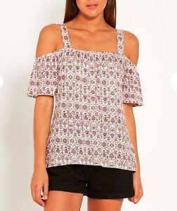 NEW DOTTI STRAP EXPOSED SHOULDER TOP SIZE XS