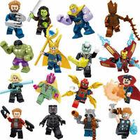 16pcs Marvel Super Heroes Fit Lego Avengers Infinity War Mini Figures Man Hulk