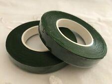 "Floral Tape 1/2"" Dark Green White Brown Flowers Florist Stem Wrap Crafts New"