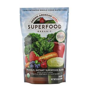 Grown American Organic Superfood 4 Week Supply Improve Energy Level 8 Grams