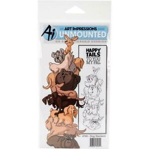 Art Impressions Stackers Cling Rubber Stamp Set  Dog (New) 4740