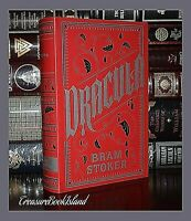 New Dracula by Bram Stoker Horror Soft Leather Bound Deluxe Collectible Classic