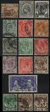 16x MALAYA Federated States STRAIT SETTLEMENTS PERAK SELANGOR Postage Stamps Use