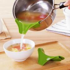 1pcs Silicone Slip On Pour Spout For Bowls Pots & Pans Drip Free Pouring Good JJ