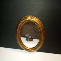 VINTAGE SYROCO WALL MIRROR ART NOUVEAU Z9687X SEASHELL GOLD