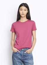 NEW VINCE 100% Cotton Summer Basic Boy Tee Crew Top Shirt Solid Cerise purple M