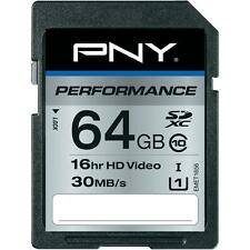 PNY Performance SDXC Flash Memory Card 64GB Class 10
