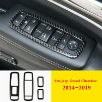 For Jeep Grand Cherokee 2014-2019 Real Carbon Fiber Window Switch Frame Trim