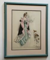"""1902 Harrison FISHER Victorian LADY COLLIE Art Print FINAL INSTRUCTIONS  22""""x18"""""""