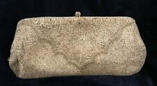 Silver micro-beaded Bags by Debbie clutch evening bag