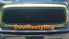 FOR 2013 14 15 16 17 Dodge Ram 1500 Black Wire Mesh Rivet Studs Grille Insert