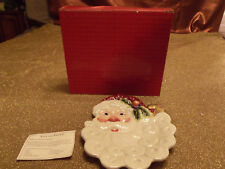 Fitz and Floyd Christmas Santa Claus Face Canape Plate 2003 2063/330 New