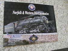 Lionel Norfolk Western Y6B Steam Engine & Tender Factory Brochure Free ShipN 48