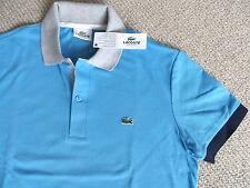 "Genuine LACOSTE MEDIUM 38-40"" Marine POLO SHIRT jersey Mens TAGS Size 3 Reg Fit"