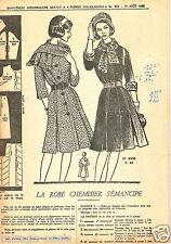 Vintage. La Robe chemisier.  Août 1962. Taille 44. Patron non découpé.