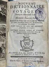 Reise-Wörterbuch 1757 Deutsch-Latein-Französisch
