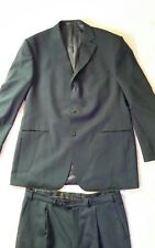 Marks and Spencer Tailoring Travel navy wool suit Chest 42 M Waist 36 Leg 29