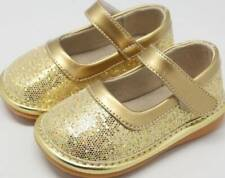 Sparkle Gold Leather Squeaky Shoes  Toddler size 3-10