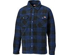 Dickies Portland Shirt Mens Fleece Padded Lumberjack Stud Work Jacket Sh5000 M Royal Blue