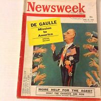 Newsweek Magazine Mission to America De Gaulle April 25, 1960 070517nonrh