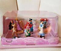 Disney Store Princess Figure Ariel Belle Rapunzel Pocahontas Jasmine Merida NEW