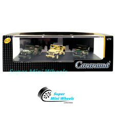 Cararama 1:72 1/4 Ton Military Vehicle (Green, Khaki, Camouflage) 3-Car Set