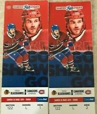 Montreal Canadiens vs Chicago Black Hawks Saturday March 16