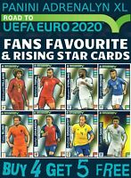 ADRENALYN XL ROAD TO EURO 2020 FANS FAVOURITE RISING STAR CARDS BUY 4 GET 5 FREE
