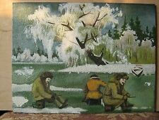 Picture of a Soviet winter fishing