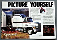 ORIGINAL 1989 MACK CH600 CLASS 8 TRUCK BROCHURE ~ 6 PAGES ~ 89MACKCH6