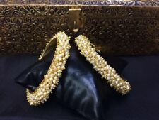 Ethnic 2PC Gold Plated Indian Traditional Kada Jewelry Bangles Bracelets Set