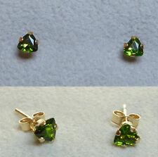 Belles boucles d'oreille rare DIOPSIDE pierres non traitées OR massif 14 carats