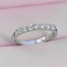 0.35CT 7 Stone Diamond Half Eternity Promise Ring Platinum 950 Finish Size 5 -12