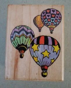 Balloonacy (4 Hot Air Balloons) Stamp by All Night Media Item # 585E