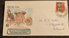 1965 Centenary Birth General Sir John Monash Australian Fdc Wcs Belmont Vic