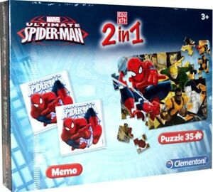 CLE13331 - Jigsaw Puzzle 35 Parts With Memo Of Drawing Animated Spider-Man