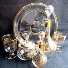 Service à fleurs d'oranger verre doré de Liserons à l'Or fin, style Napoléon III