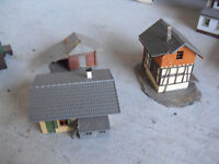 Lot of 3 Vintage HO Scale Faller Small Track side Buildings