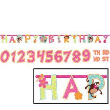 HUGE Jumbo Customised ADD AN AGE HAPPY BIRTHDAY Jointed Banner Cheeky Monkey
