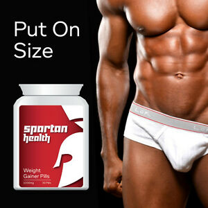 SPARTAN HEALTH WEIGHT GAINER PILLS – IMPROVE APPETITE BULKING PILL GAIN SIZE