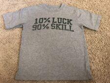 exc TCP Heather Gray Grey 10% Luck 90% Skill ST. PATTYs Patrick DAY t-shirt M 8