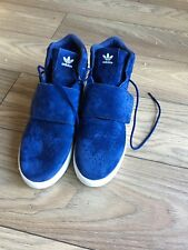 Mens Adidas Blue Suede Effect Boot