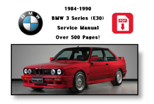 Service Manual -  BMW 3 SERIES 1984 86 87 88 89 90  E30 Digital Download