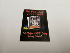 Vero Beach Dodgers/Los Angeles Spring Training 1999 Baseball Pocket Schedule